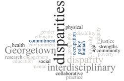 word cloud for disparities
